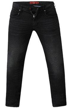duke clothing stretch jeans »herren benson, tapered fit, king size« grijs