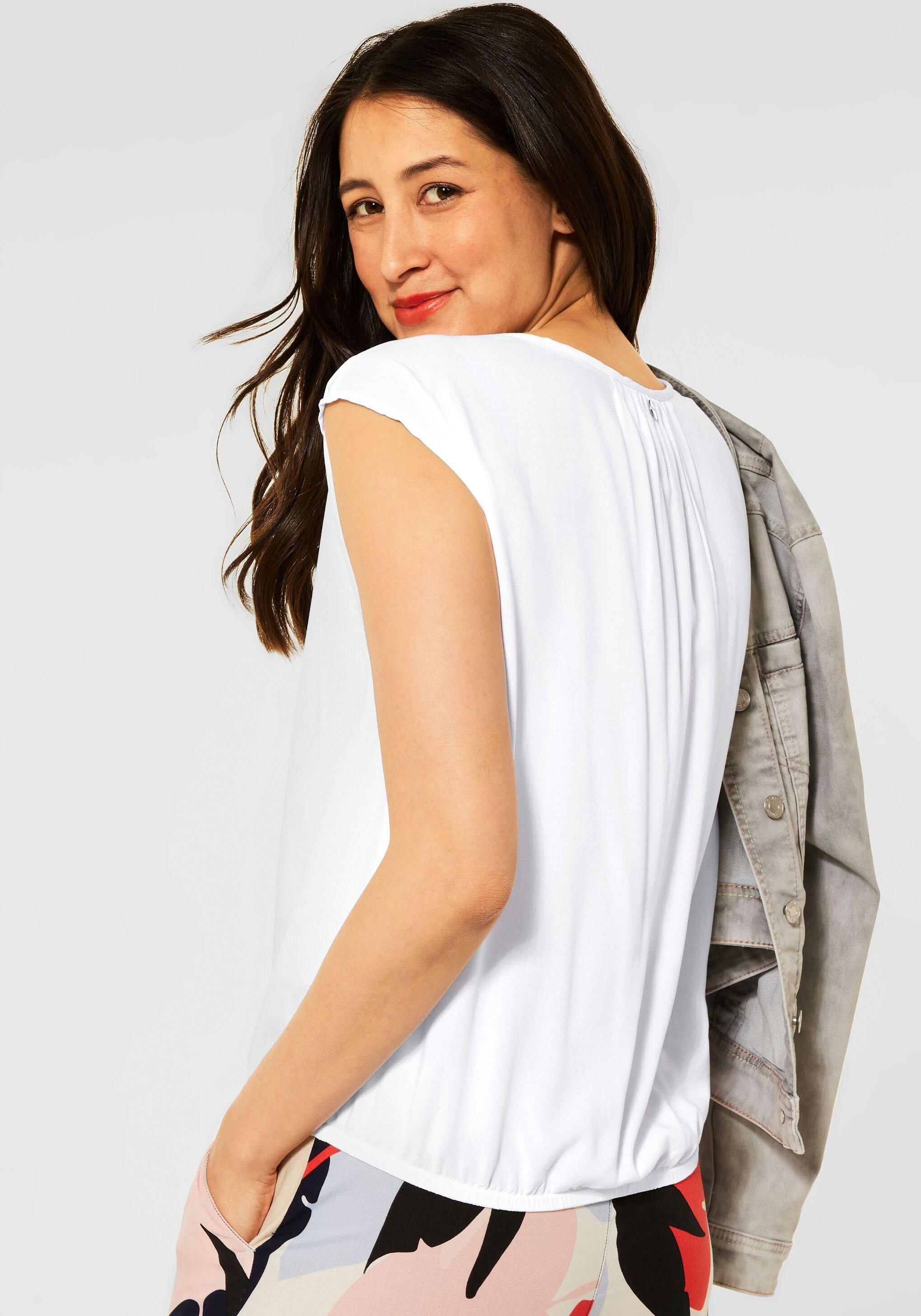 STREET ONE blouse zonder sluiting , mouwloos, unikleur veilig op otto.nl kopen