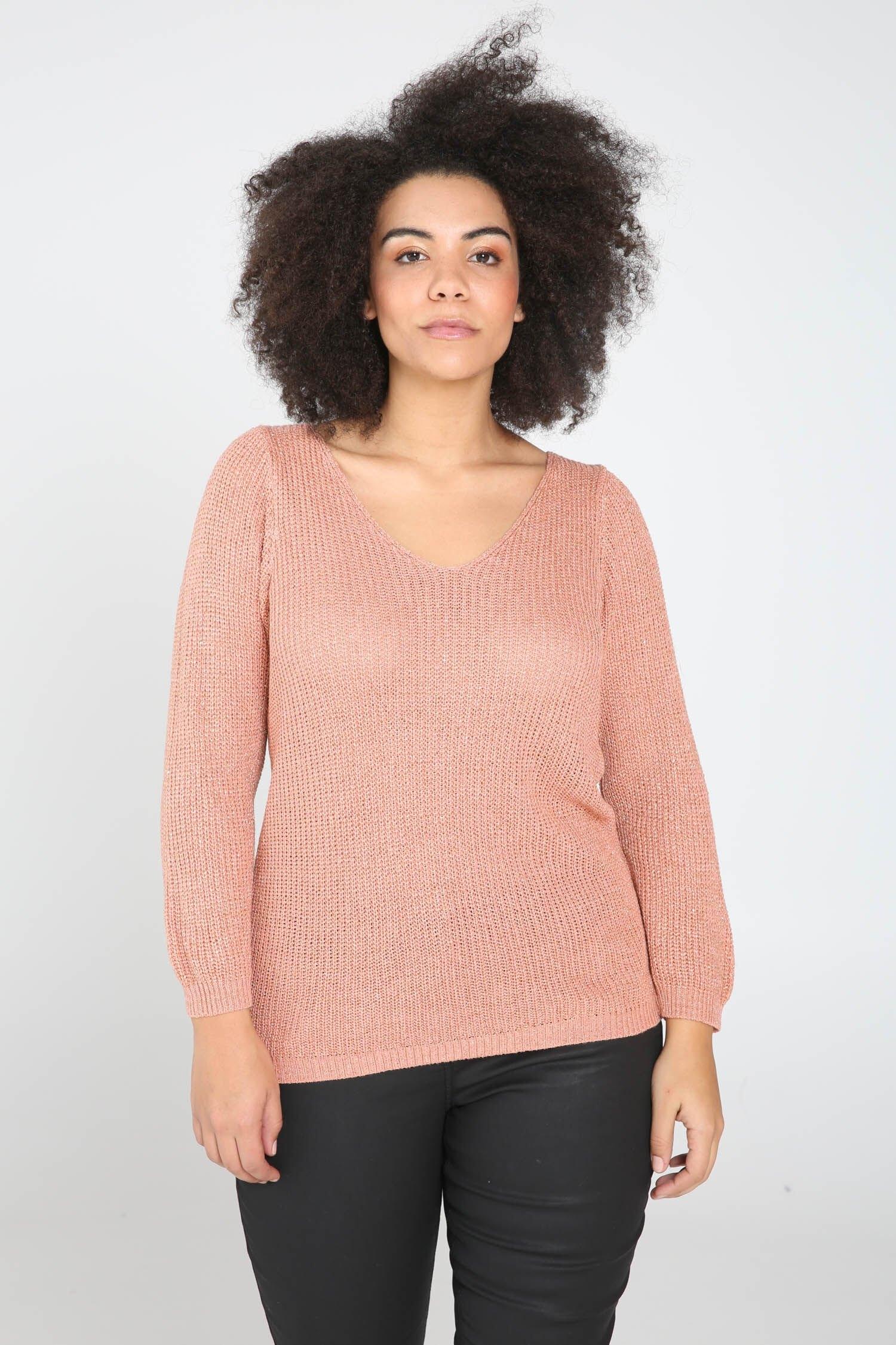 Paprika trui met V-hals voordelig en veilig online kopen