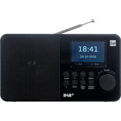 dual »dab 18 c« ukw-radio (ukw met rds,digitalradio (dab+), 2 watt) zwart
