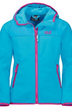 jack wolfskin softshell-jack »fourwinds jacket kids« blauw