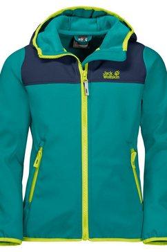 jack wolfskin softshell-jack »fourwinds jacket kids« groen