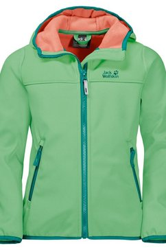 jack wolfskin softshell-jack »fourwinds jacket kids« groen
