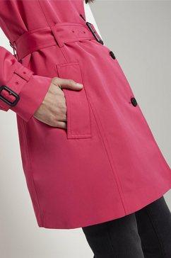 tom tailor regenjack »wasserabweisender trenchcoat« roze