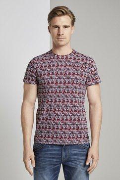tom tailor t-shirt »t-shirt im alloverprint« rood