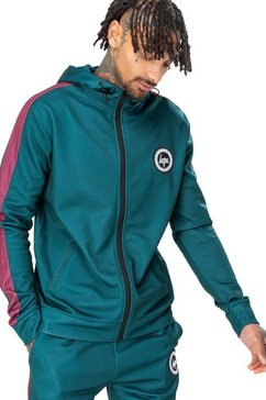 hype trainingsjack »herren trainingsjacke forest mit kapuze« groen