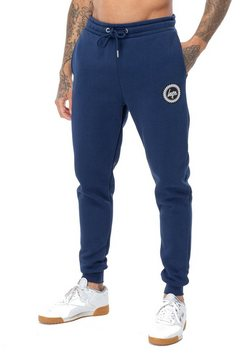 hype joggingbroek »herren jogginghose mit logo-wappen« blauw