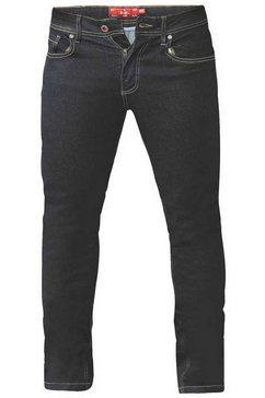 duke clothing stretch jeans »herren cedric, tapered fit, king size« oranje