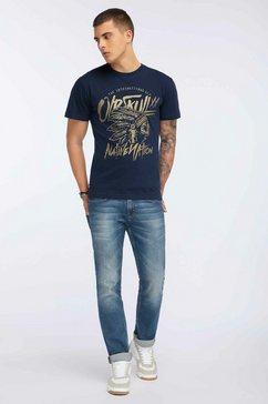 oldskull t-shirt blauw