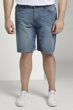 tom tailor men plus jeansshort »josh regular slim denim shorts« blauw