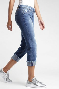 gang ankle jeans »luisa« blauw