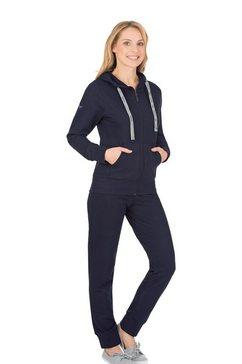 trigema joggingpak blauw