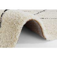andas hoogpolig vloerkleed »lene«, andas, rechthoekig, hoogte 35 mm, machinaal geweven zwart