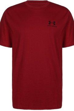 under armour trainingsshirt »sportstyle left chest« rood