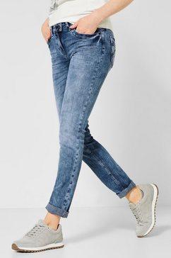 cecil slim fit jeans blauw