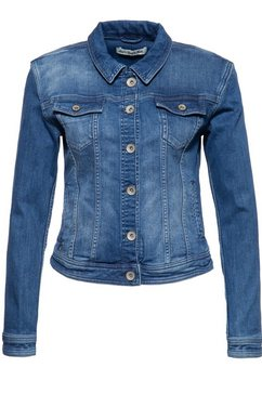 att jeans jeansjack »alicia« blauw