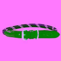 "weatherbeeta hondenhalsband ""touw lederen halsband"", textiel groen"