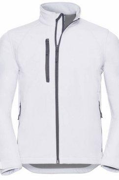 russell outdoorjack »jerzees colours herren jacke, wasser- und windabweisend« wit