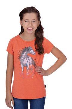 trigema t-shirt met paard oranje