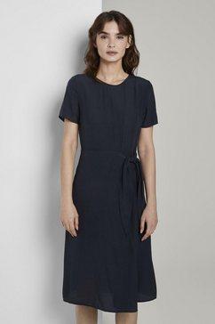 tom tailor zomerjurk »kleid mit zierknoten« blauw