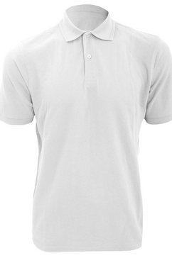 russell poloshirt »jerzees colours herren polo-shirt, kurzarm« wit