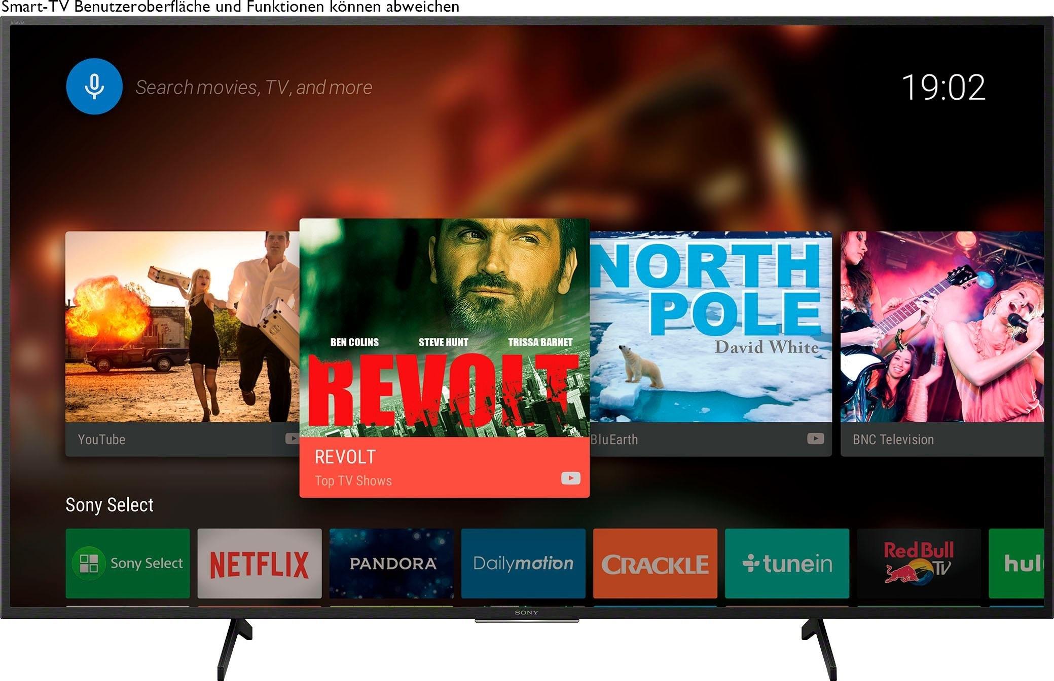 SONY KD55X7055 Bravia LED-televisie (139 cm / (55 Inch), 4K Ultra HD, Smart-TV veilig op otto.nl kopen