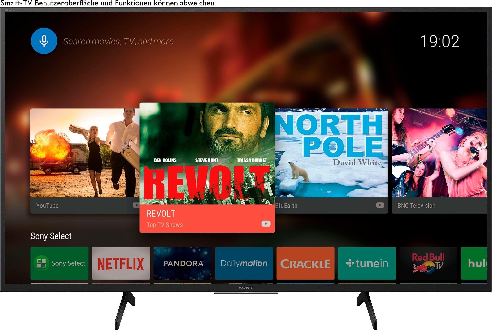 SONY KD49X7055 Bravia LED-televisie (123 cm / (49 Inch), 4K Ultra HD, Smart-TV nu online bestellen