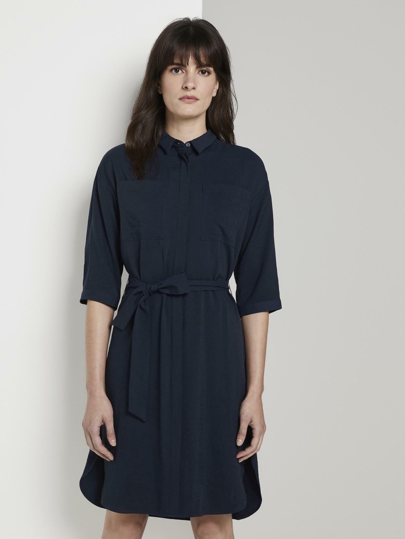 Tom Tailor Mine To Five jurk met overhemdkraag »Hemdkleid mit Brusttaschen« bestellen: 30 dagen bedenktijd