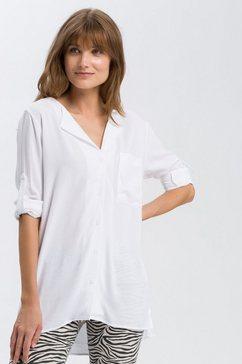 cross jeans blouse met lange mouwen »75177« wit
