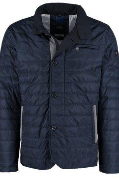 dnr jackets herenblouson met ritssluiting en knoopsluiting blauw