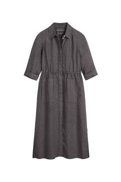sandwich maxi-jurk van linnen grijs