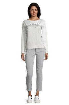 bettyco sweater met knoopsluiting »mit applikation« grijs