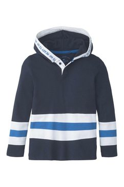 tom tailor shirt met lange mouwen »hoodie mit colorblocking« blauw