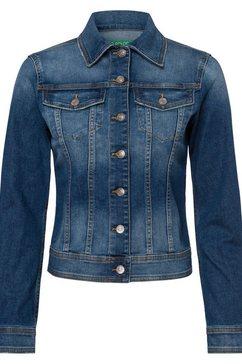 united colors of benetton jeansjack blauw