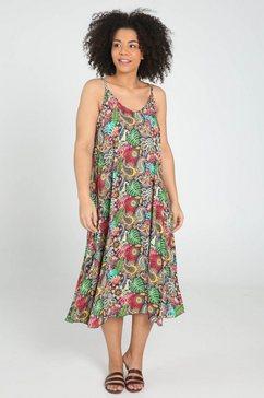 paprika maxi-jurk »v-ausschnitt« multicolor