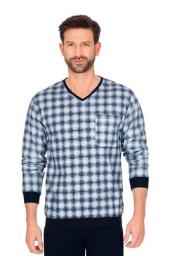 trigema pyjamashirt met v-hals wit