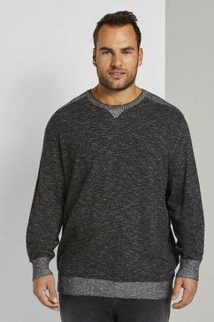 tom tailor men plus gebreide trui »langarm sweatshirt« grijs