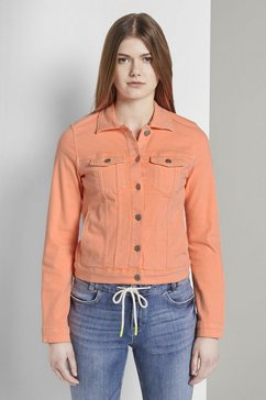 tom tailor denim jeansjack »jeansjacke im slim-fit« oranje