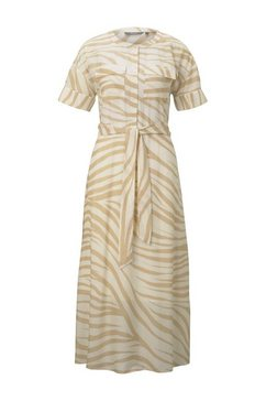 tom tailor mine to five maxi-jurk »maxikleid im zebra-muster« beige