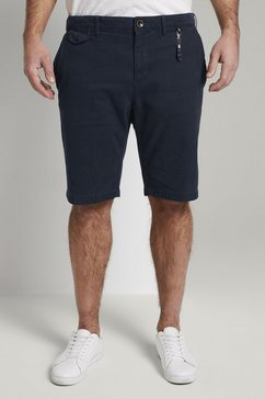 tom tailor men plus short »josh regular slim chino shorts« blauw