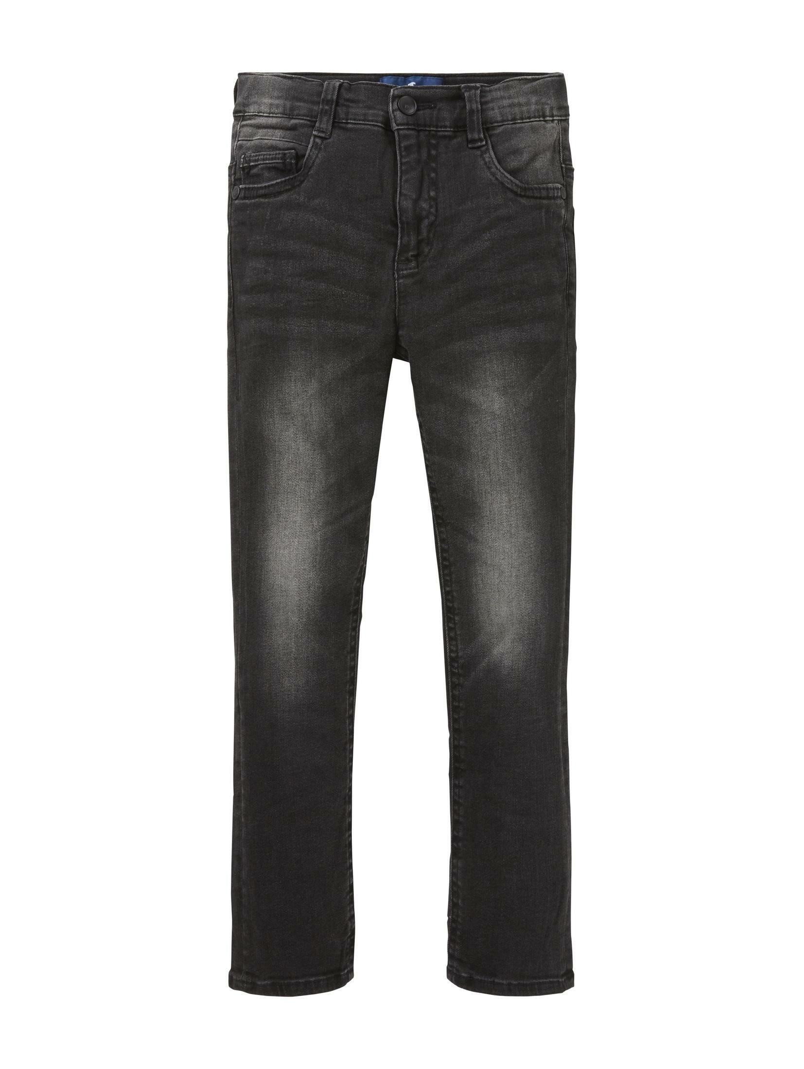 TOM TAILOR straight jeans »Schwarze Jeans« bij OTTO online kopen