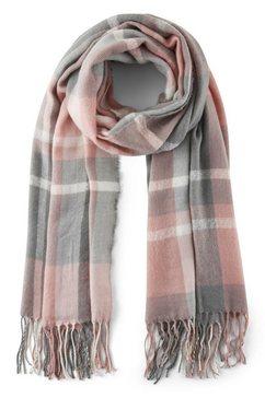 tom tailor denim modieus sjaaltje »karierter schal mit fransen« roze