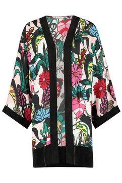 loomlace kimono met open voorkant »bandita« roze