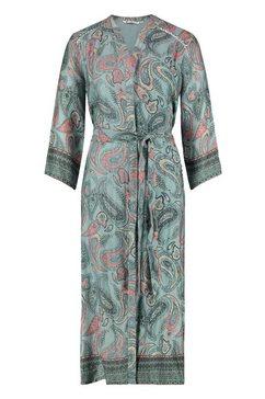 loomlace maxi-jurk met paisleyprint all-over en riem »christa« groen