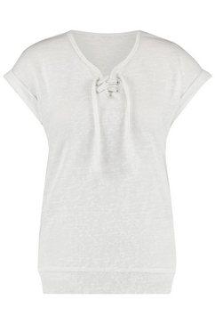 loomlace t-shirt met aangeknipte mouwen voorzien van omslag »megan« wit