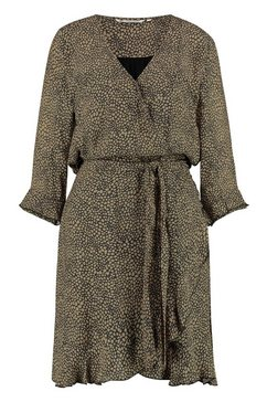loomlace gedessineerde jurk met bindceintuur »penny« zwart