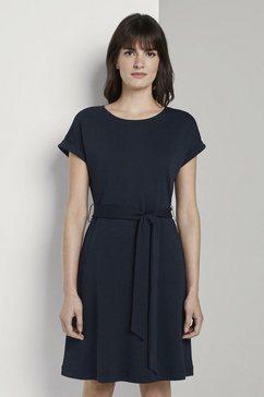 tom tailor mine to five zomerjurk »kleid mit bindeguertel« blauw
