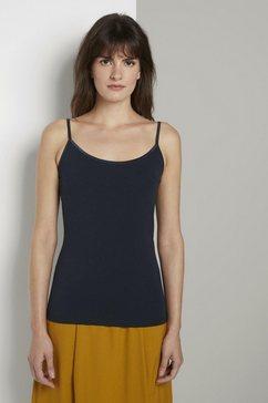 tom tailor mine to five t-shirt »basic top mit verstellbaren spaghetti-traegern« blauw