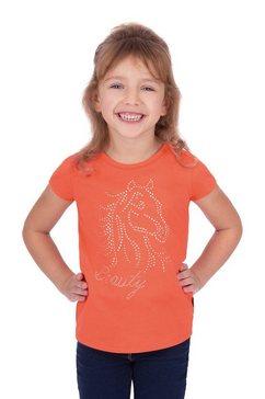 trigema t-shirt glitterpaard oranje