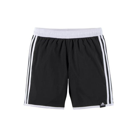 adidas performance zwemshort 3-Stripes zwart